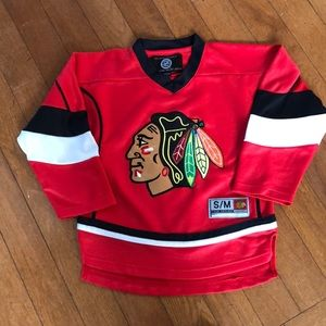 Chicago Blackhawks youth hockey jersey